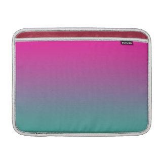 Púrpura magenta y trullo Ombre Funda Para Macbook Air