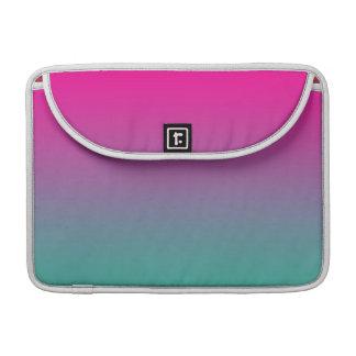 Púrpura magenta y trullo Ombre Fundas Macbook Pro