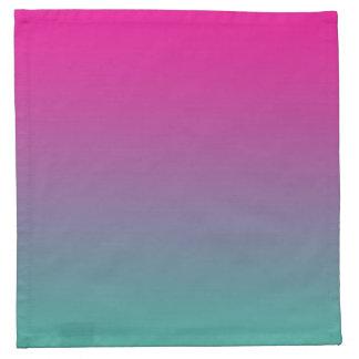 Púrpura magenta y trullo Ombre Servilletas Imprimidas