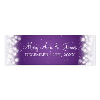 Púrpura mágica de la chispa de la etiqueta del tarjetas de visita mini