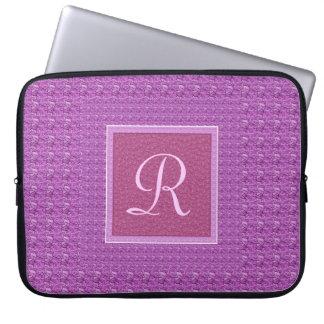 Púrpura (manga del ordenador portátil de la letra  funda ordendadores