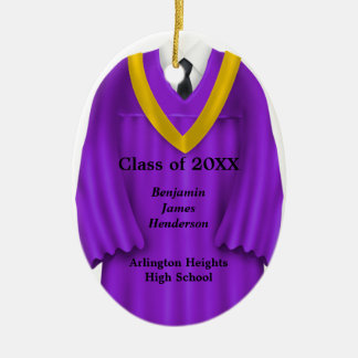 Púrpura masculina del vestido del graduado y ornam adorno de reyes