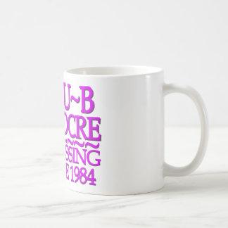 Púrpura mediocre del club taza básica blanca
