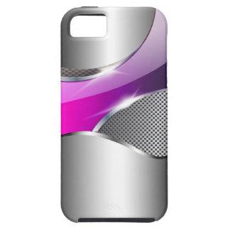 Púrpura metálica de la redada de la malla del funda para iPhone SE/5/5s