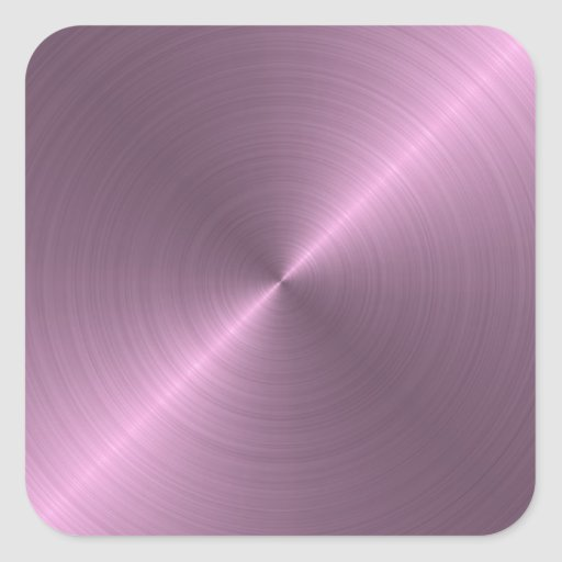Púrpura metálica pegatina cuadrada