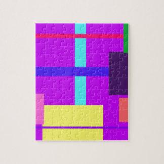 Púrpura minimalista puzzles