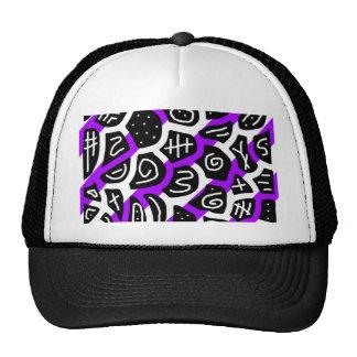 Púrpura, modelo juguetón blanco y negro gorra