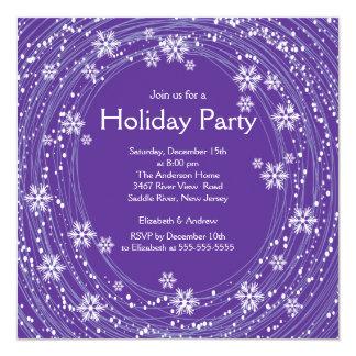 Púrpura moderna de la celebración de días festivos comunicado