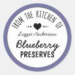 Púrpura moderna de la cocina de la etiqueta