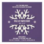 Púrpura moderna de la invitación de la fiesta de N