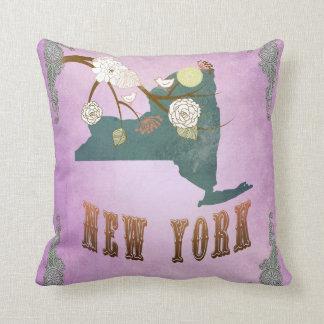 Púrpura moderna de la Mapa-Uva del Estado de Nuevo Cojines