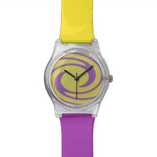 Púrpura moderna del amarillo del modelo del remoli relojes de mano