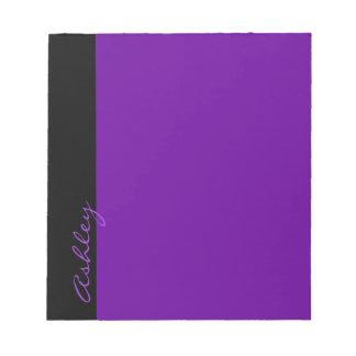 Púrpura moderna personalizada 519 libreta para notas