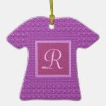 Púrpura (monograma de la letra R) Adornos