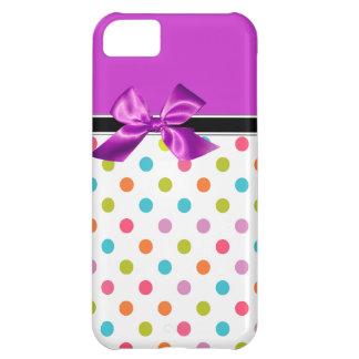 púrpura Monogramm del caso del iPhone 5