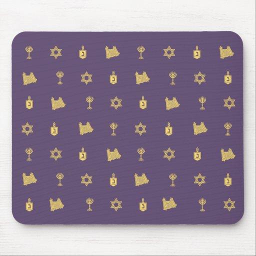 Púrpura Mousepad del adorno de Jánuca