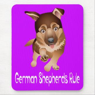 Púrpura Mousepad del perro de perrito del pastor Tapete De Ratones