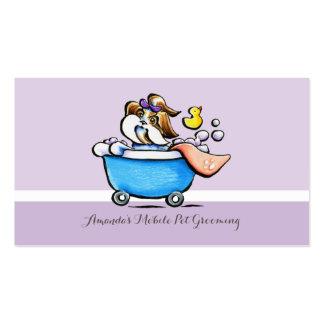 Púrpura móvil de Shih Tzu del Groomer del mascota Tarjetas De Visita