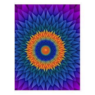 Púrpura multi Origami de la flor Tarjetas Postales