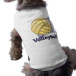 Púrpura neta del voleibol camiseta de mascota