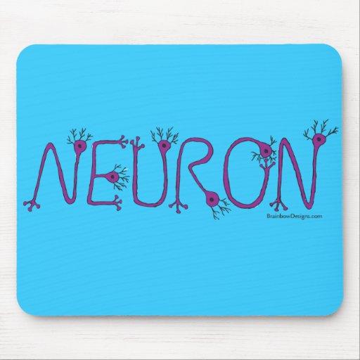 Púrpura/neurona Mousepad de la aguamarina Tapetes De Ratón
