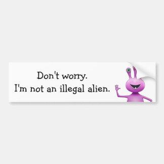 """Púrpura """"no soy pegatina para el parachoques de un pegatina para auto"""