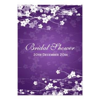 Púrpura nupcial elegante de la flor de cerezo de l