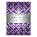 Púrpura nupcial elegante de la flor de lis de la d comunicados personales