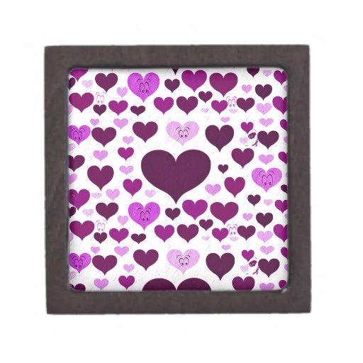 Púrpura, ojos de Love_ Caja De Recuerdo De Calidad