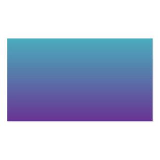 Púrpura Ombre de la turquesa Tarjetas De Visita