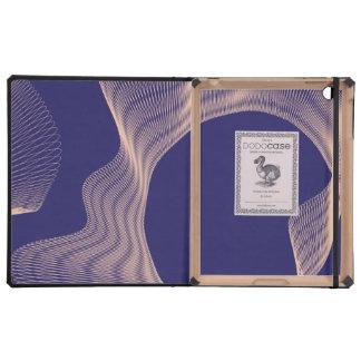 Púrpura ondulada impar del rosa de las curvas iPad protectores
