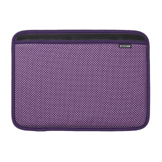 Púrpura oscura con los puntos blancos simples funda macbook air