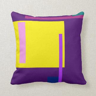 Púrpura oscura del espacio artístico cojín decorativo