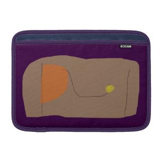 Púrpura oscura del pan funda macbook air