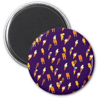 Púrpura oscura del pequeño modelo colorido del imán redondo 5 cm