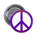 Púrpura oscura del símbolo de paz pins