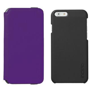 Púrpura oscura funda billetera para iPhone 6 watson