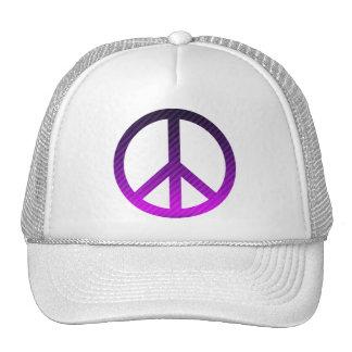 Púrpura oscura rayada del símbolo de paz gorro
