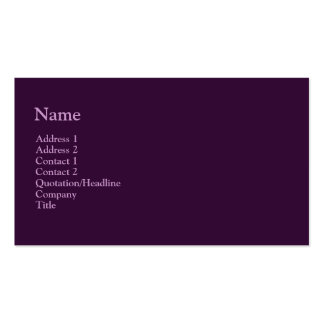 púrpura oscura tarjetas de visita
