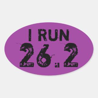 Púrpura oval funciono con al pegatina 26 2