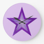 Púrpura pálida redonda del reloj púrpura de la est