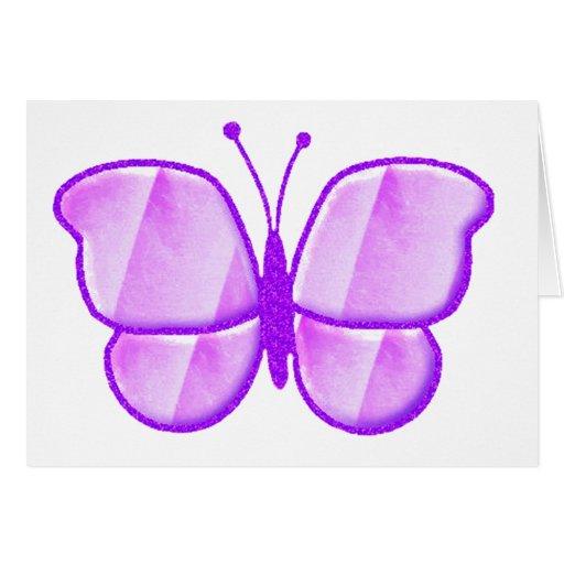 Púrpura pálida tarjeta de felicitación