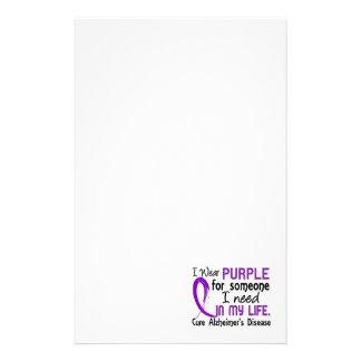 Púrpura para alguien necesito la enfermedad de Alz Papeleria De Diseño