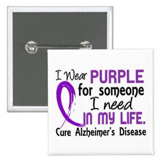 Púrpura para alguien necesito la enfermedad de Alz Pin