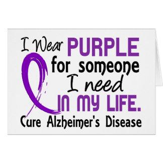 Púrpura para alguien necesito la enfermedad de Alz Felicitación