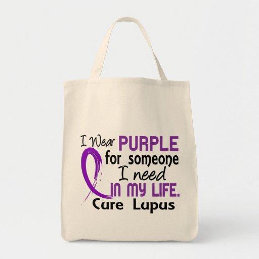 Púrpura para alguien necesito lupus bolsa de mano