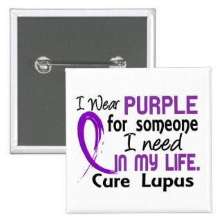 Púrpura para alguien necesito lupus pin cuadrado
