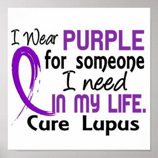 Púrpura para alguien necesito lupus póster