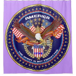 Púrpura patriótica de Pascua de la cortina de Cortina De Baño