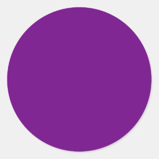 Púrpura Pegatinas Redondas